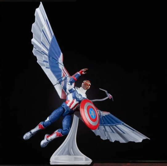 Marvel Legends 2021 Sam Wilson Captain America with Falcon Wings Stand