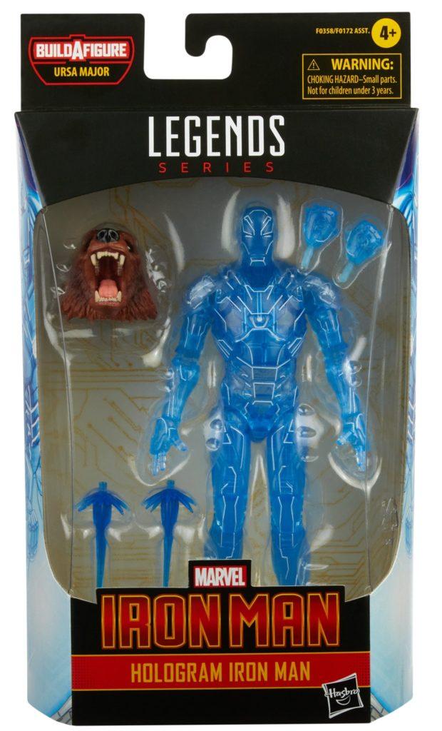 Marvel Legends Hologram Iron Man Figure Packaged