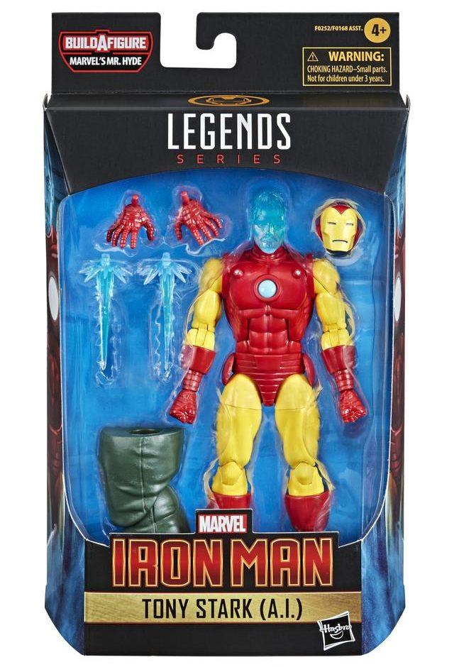 Marvel Legends Iron Man Tony Stark A.I. Figure Packaged