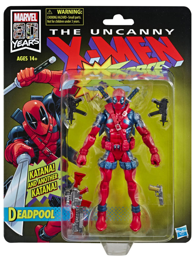 Marvel Legends Retro Deadpool Figure Packaged