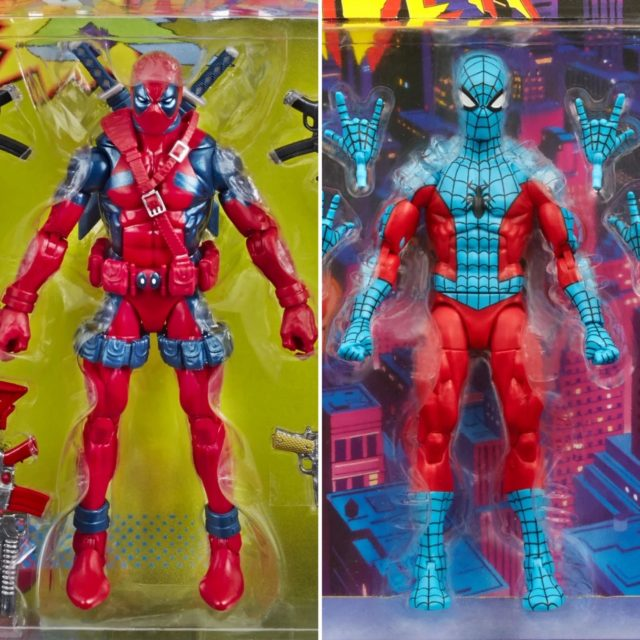 Marvel Legends Retro Web-Man Spider-Man and 80th Anniversary Deadpool Figures