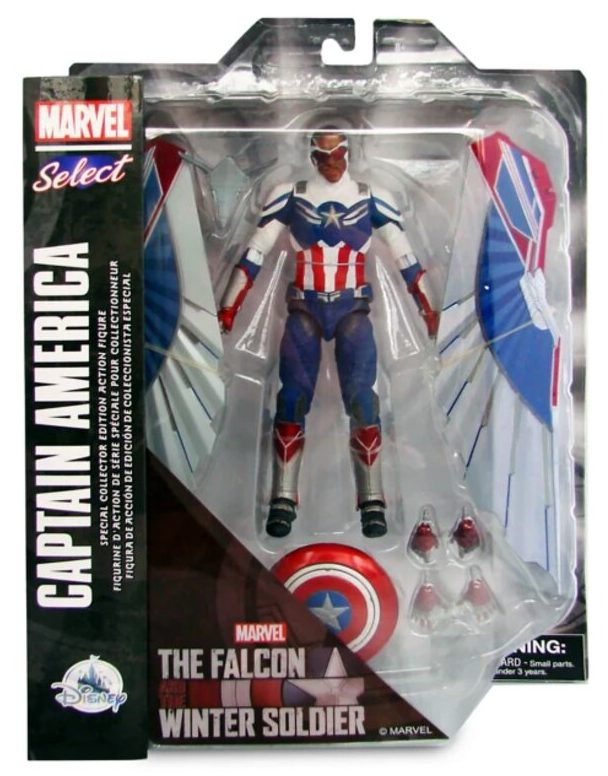 Packaged Marvel Select Sam Wilson Captain America Falcon Figure