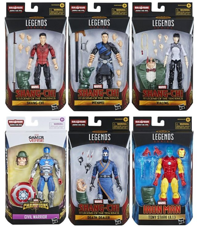 Shang Chi Marvel Legends Series Figures Packaged