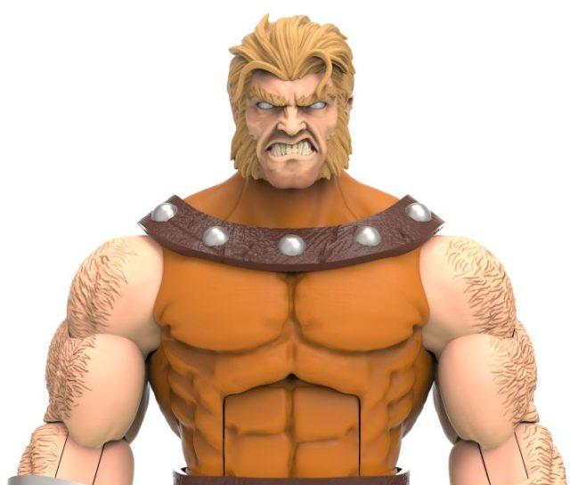 AOA Sabretooth Hasbro X-Men Marvel Legends Figure Close-Up Angry Head