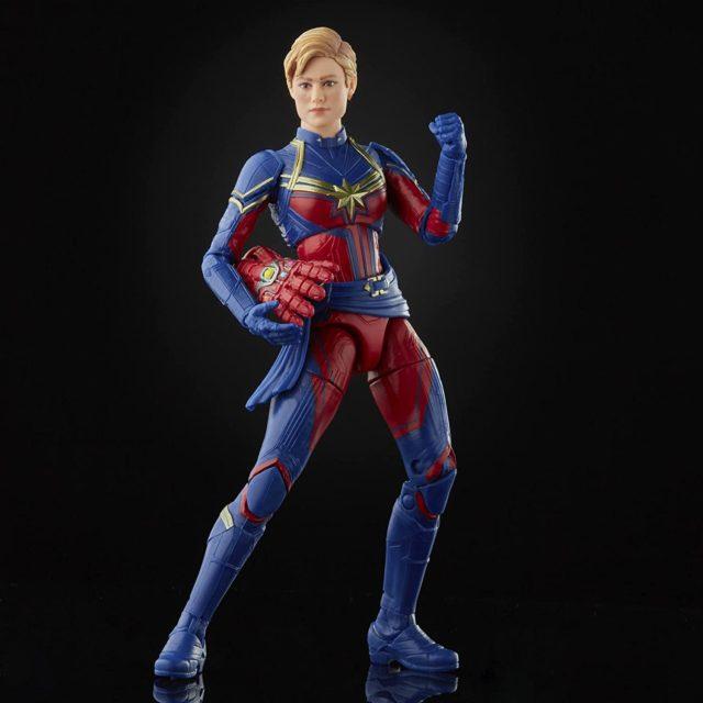 Avengers Endgame Captain Marvel Marvel Legends Figure with Nano Gauntlet Amazon Exclusive