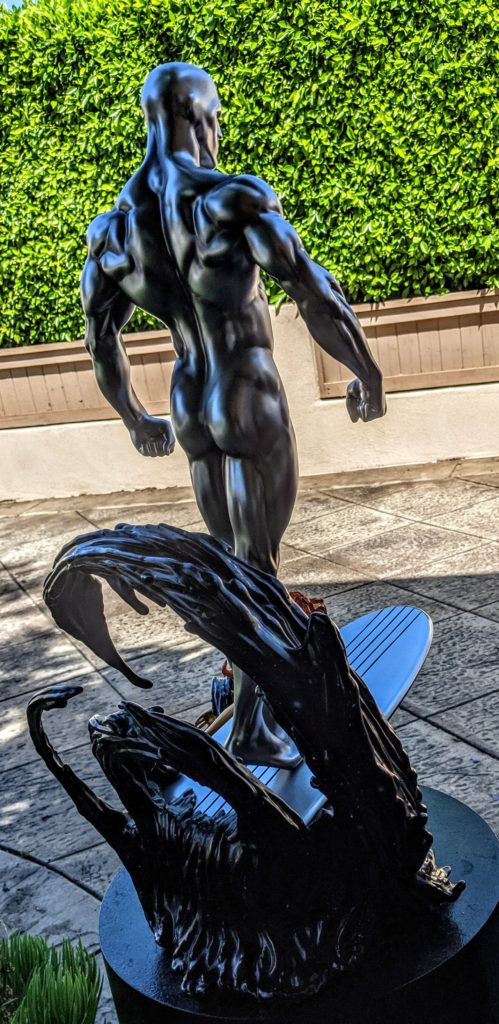Back of Silver Surfer Sideshow Collectibles Statue Butt