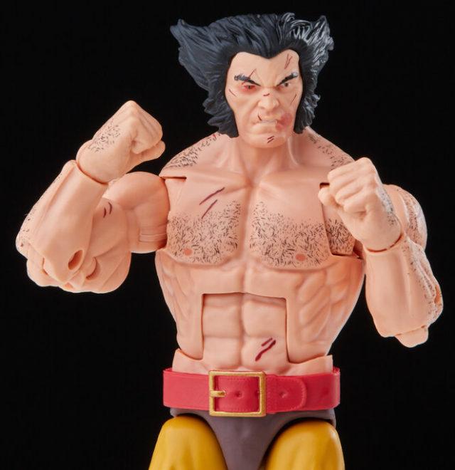Battle Damaged Wolverine Marvel Legends Shirtless Figure