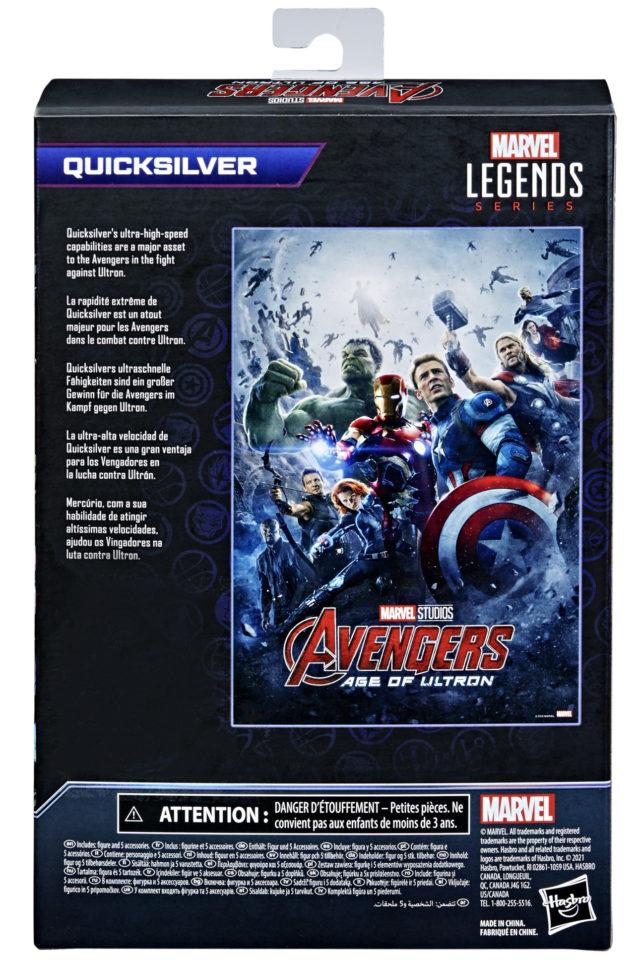 Box Back Infinity Saga Marvel Legends Quicksilver Figure