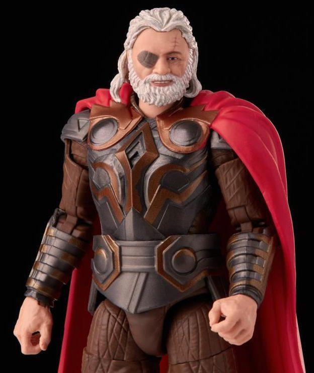 Close-Up of Marvel Legends Anthony Hopkins Odin Action Figure without Helmet