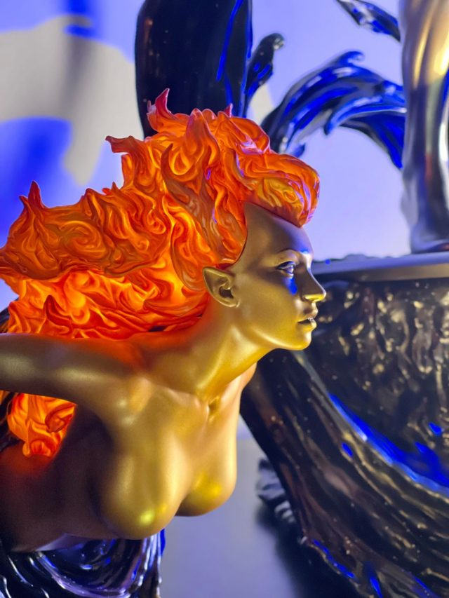 Close-Up of Sideshow Nova Statue with Light Up Hair