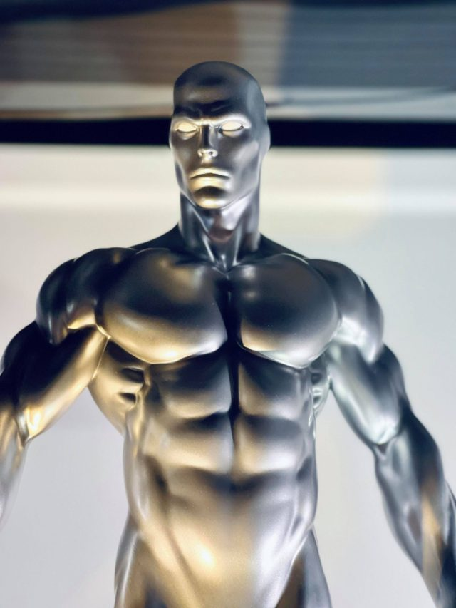 Close-Up of Silver Surfer Sideshow Collectibles Maquette