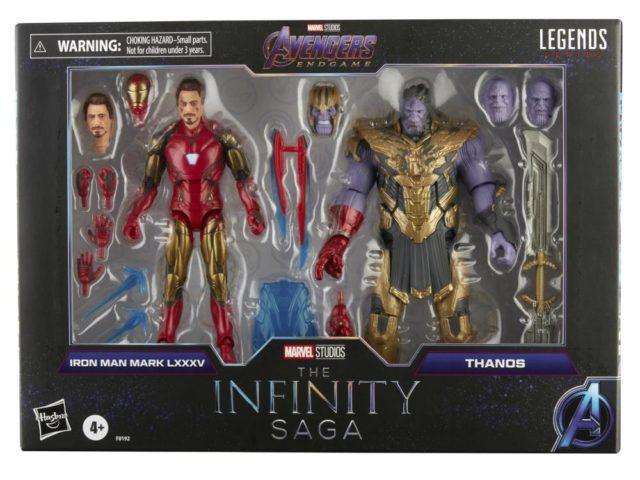 Infinity Saga Marvel Legends Endgame Thanos Iron Man Final Battle 2-Pack Packaged