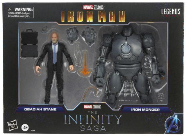 Infinity Saga Obadiah Stane and Iron Monger Marvel Legends Figures Packaged Box