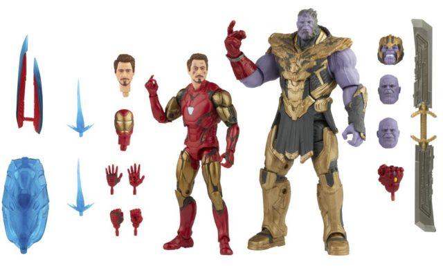 Iron Man Mark 85 vs Thanos Marvel Legends Infinity Saga Figures and Accessories