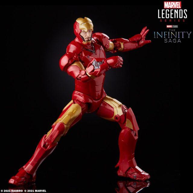 Iron Man Mark III Marvel Legends Infinity Saga Figure with Faceplate Up