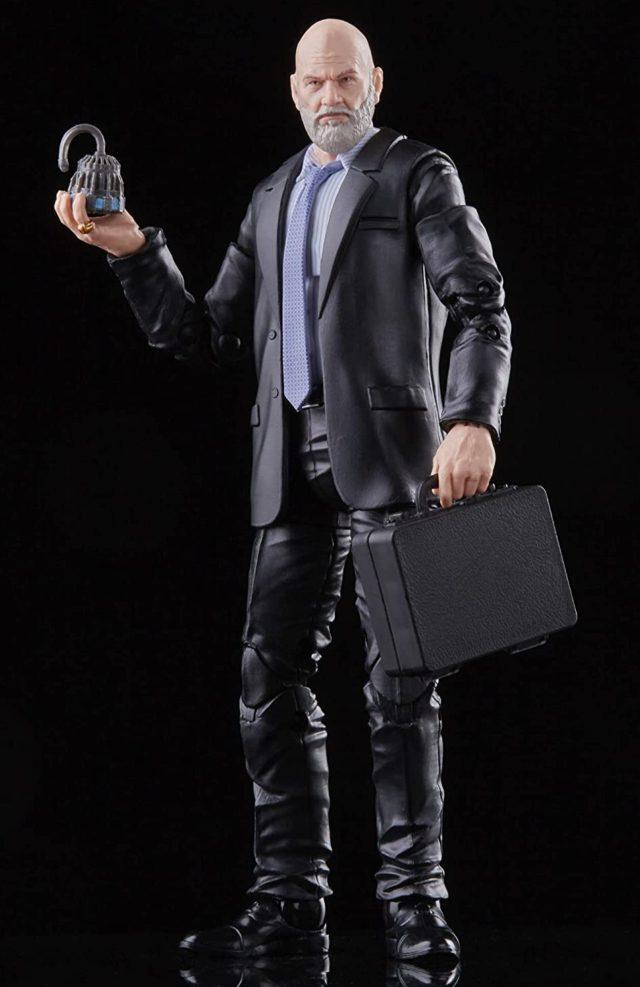 Jeff Bridges Marvel Legends Obadiah Stane Movie Figure with ARC Reactor and Suitcase