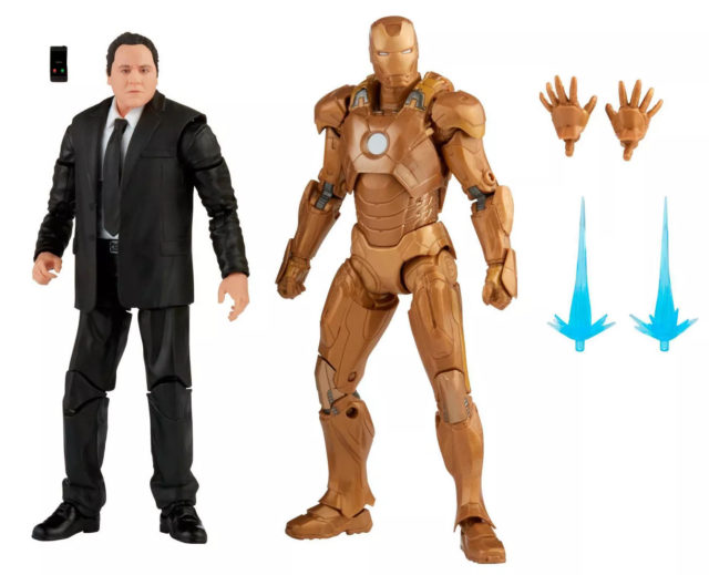 Marvel Legends Happy Hogan and Midas Iron Man Mark 21 Figures and Accessories