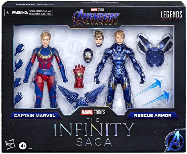 Marvel Legends Infinity Saga Captain Marvel Rescue Figures Two Pack Packaged