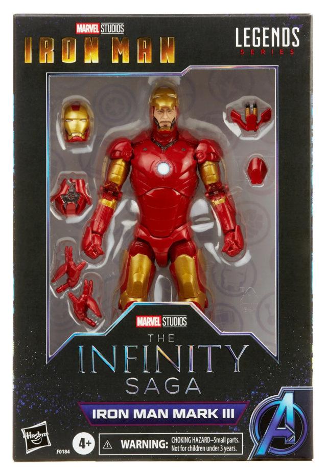 Marvel Legends Infinity Saga Iron Man Mark 3 Figure Packaged in Box
