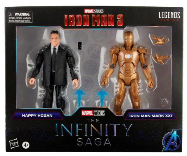 Marvel Legends Midas Iron Man and Happy Hogan Target Exclusive Figures Packaged Infinity Saga