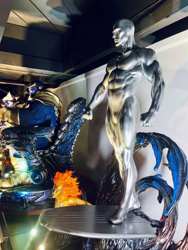 Side View of Sideshow Collectibles Silver Surfer Statue Maquette