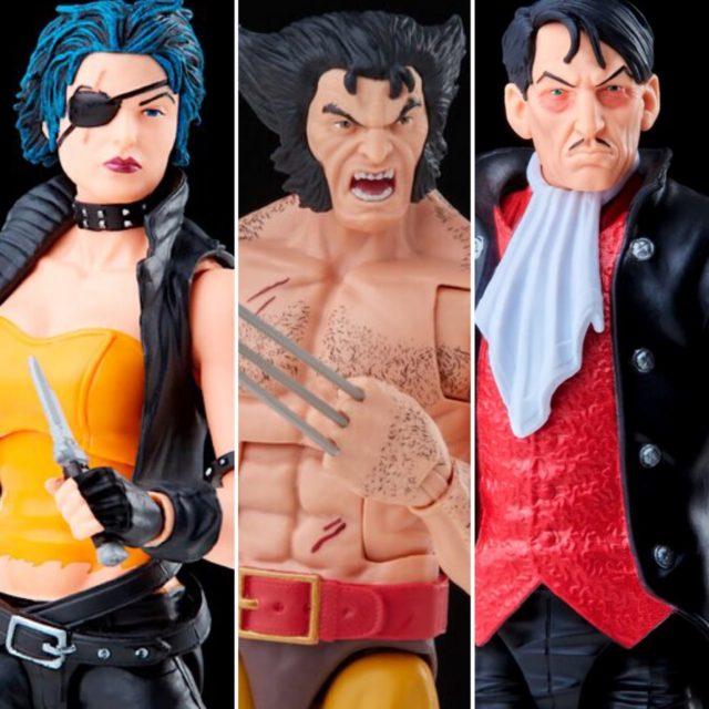 X-Men Marvel Legends Callisto Mastermind Shirtless Wolverine Figures