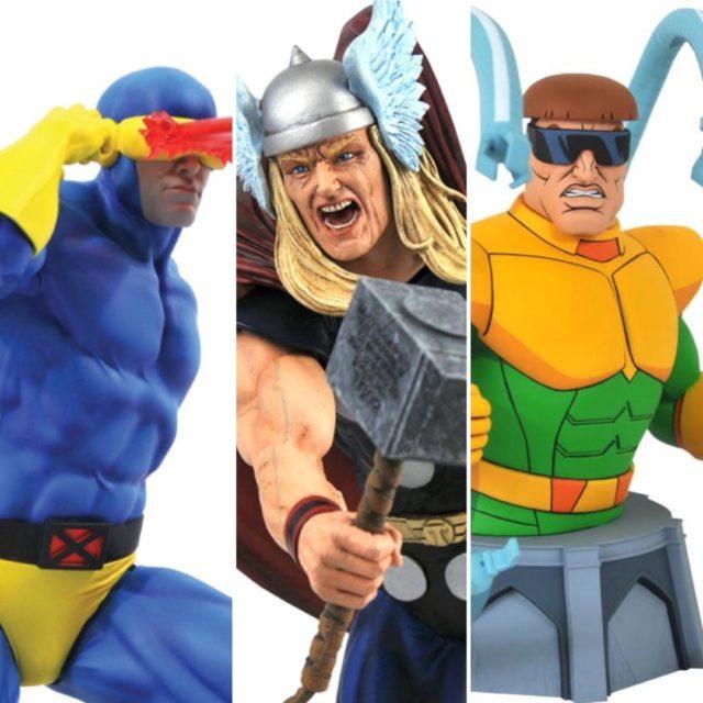 Diamond Select Toys Marvel Premier Cyclops Statue Gallery Thor Animated Doc Ock