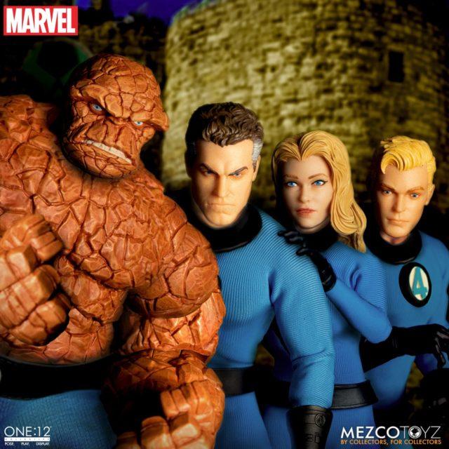 Fantastic Four Mezco ONE 12 Collective Figures Box Set Team
