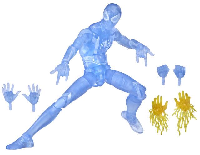 Hasbro Exclusive Gamestop Marvel Legends Miles Morales Spider-Man Clear Blue Figure