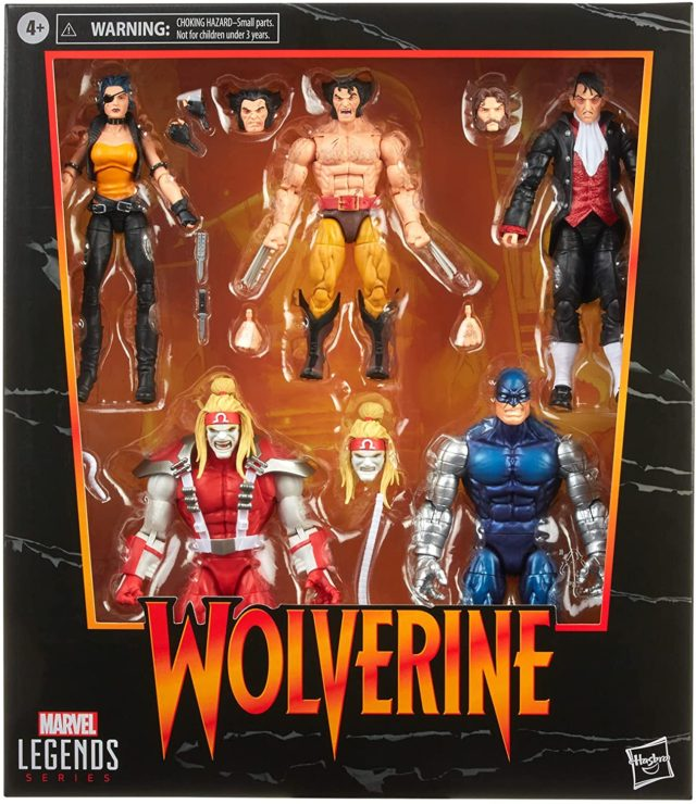 Marvel Legends Wolverine Amazon Exclusive 5-Pack Box Set Packaged