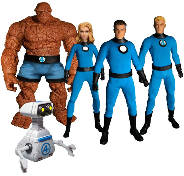 Marvel ONE 12 Collective Fantastic Four Figures Set with HERBIE Robot