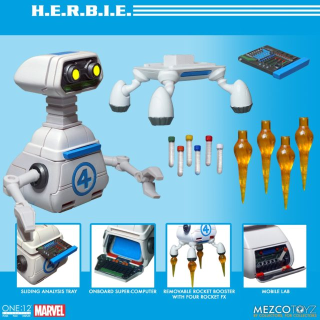 Mezco HERBIE ONE 12 Collective Robot Figure and Accessories