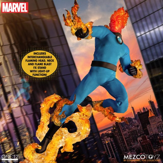 Mezco ONE 12 Collective Human Torch Figure Flame On