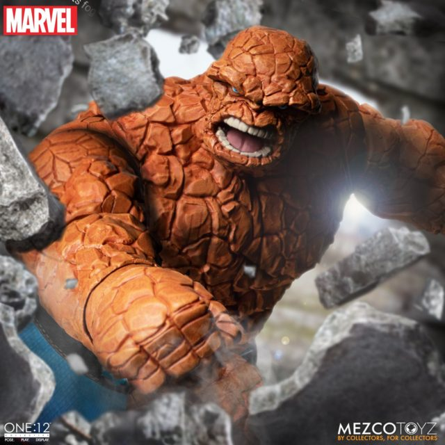Mezco ONE:12 Collective Thing Figure Punching with Angry Yelling Head