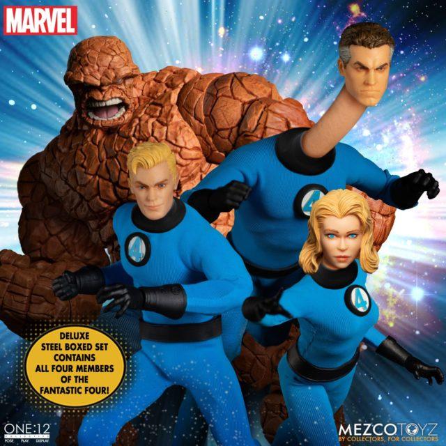 Mezco Toyz Fantastic Four ONE12 Collective Steel Box Set