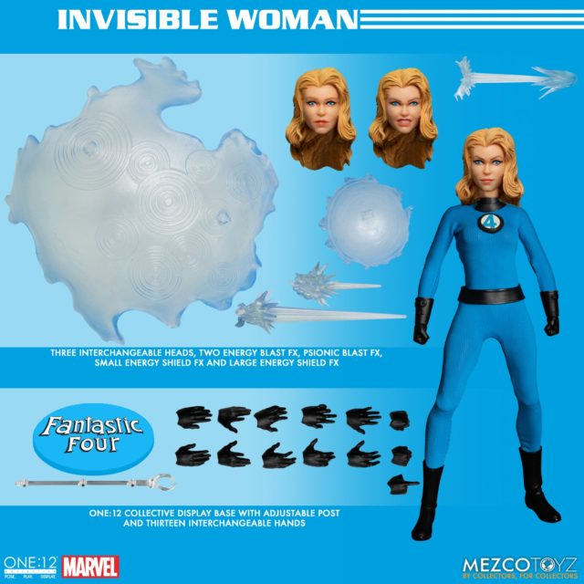 ONE 12 Collective Fantastic Four Invisible Woman Figure and Accessories