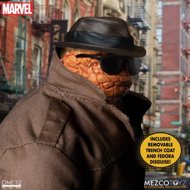 The Thing ONE12 Collective Action Figure Disguise Trenchcoat Sunglasses Fedora