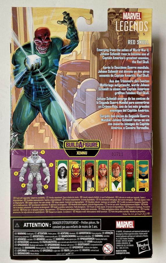 Box Back Marvel Legends Xemnu Series Red Skull