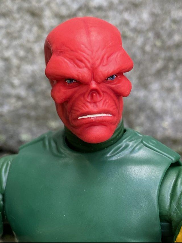 Close-Up of Hasbro Red Skull Classic Figure Head Sculpt Portrait