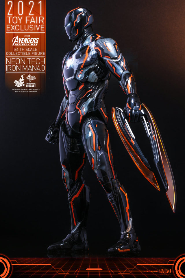 2021 Hot Toys Exclusive Neon Tech Iron Man 4 Point 0 Sixth Scale Figure