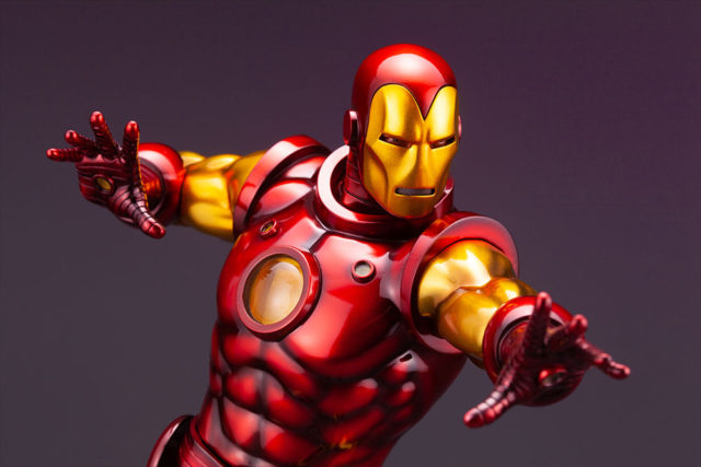 Avengers Fine Art Iron Man Statue Close-Up