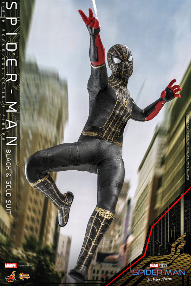 Black and Gold Spider-Man Hot Toys Figure No Way Home