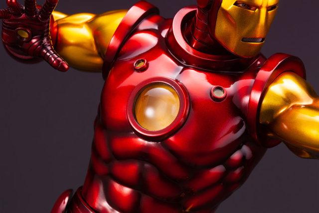 Close-Up of Armor on Kotobukiya Fine Art Iron Man Avengers Statue 2021