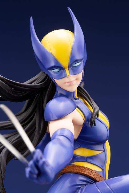 Close-Up of Koto Wolverine Bishoujo Statue Masked Head X-23