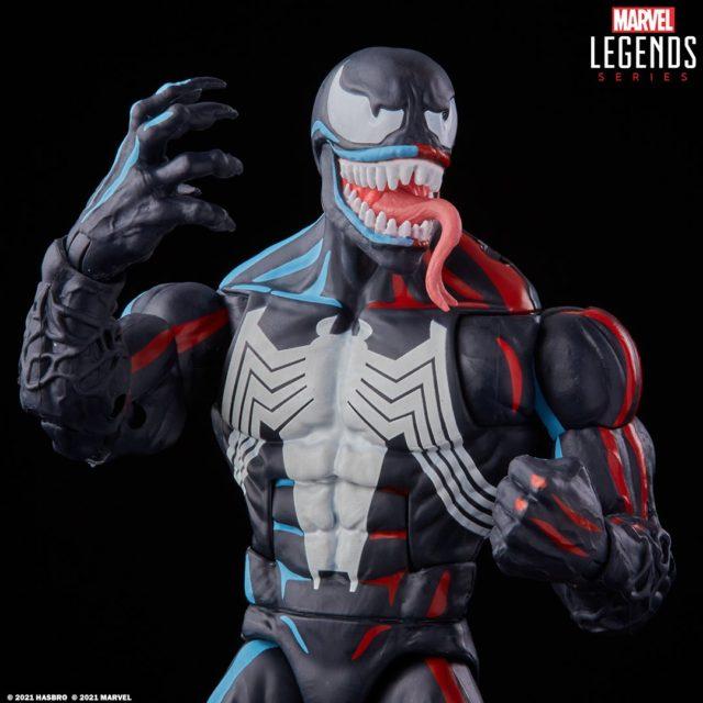 Close-Up of Venom Hasbro Pulsecon 2021 Exclusive Marvel Legends 6 Inch Figure