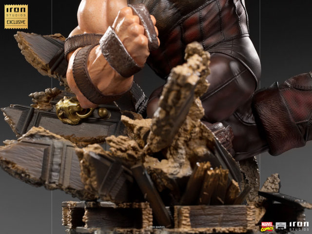 Destroyed X-Mansion Base on Iron Studios Juggernaut X-Men Statue