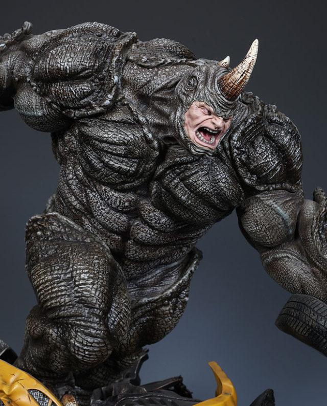 Details on Rhinoceros Hide Skin of XM Studios Rhino Marvel Statue