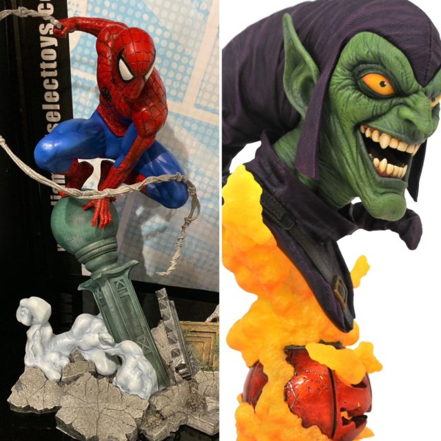 Diamond Select Toys Legends in 3D Green Goblin and Marvel Gallery VS Spider-Man PVC Statues