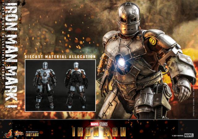 Die-Cast Metal Allocation on Hot Toys Iron Man Mark 1 Die Cast Figure