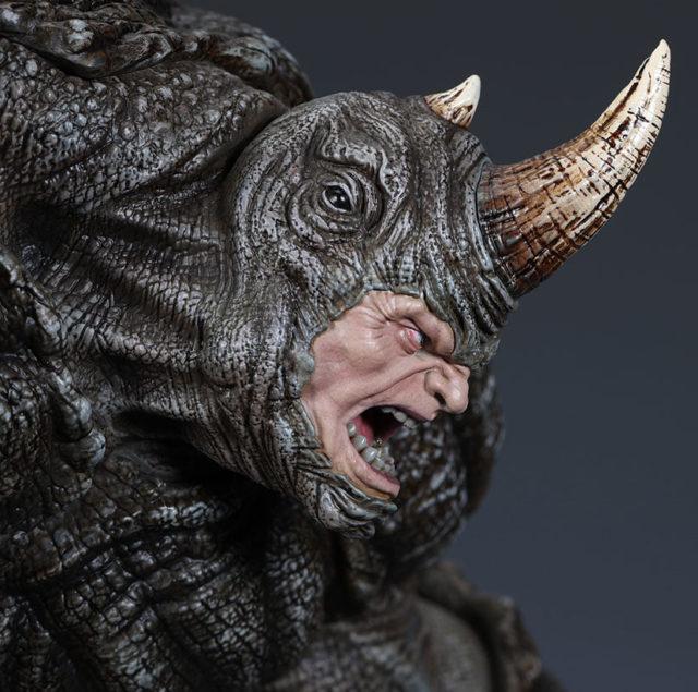 Head Detail on Spider-Man XM Studios The Rhino Statue